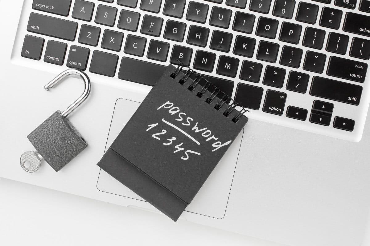 Passwort Notebook Schloss